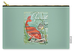 Gourmet Cover Featuring A Snapper And Pompano Carry-all Pouch by Henry Stahlhut