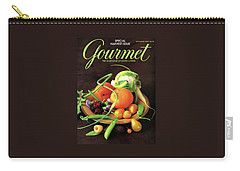 Gourmet Cover Featuring A Variety Of Fruit Carry-all Pouch