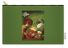 Gourmet Cover Featuring A Variety Of Vegetables Carry-all Pouch by Henry Stahlhut