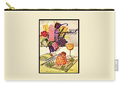 Gourmet Cover Featuring Sweetbread And Asparagus Carry-all Pouch
