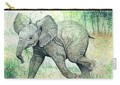 Carry-all Pouch featuring the painting Grabbing A Snack by Barbara Jewell