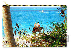 Carry-all Pouch featuring the photograph Grace Bay Riding by Patti Whitten