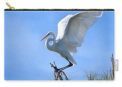 Carry-all Pouch featuring the photograph Graceful Landing by Deb Halloran