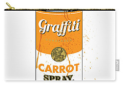 Graffiti Carrot Spray Can Carry-all Pouch