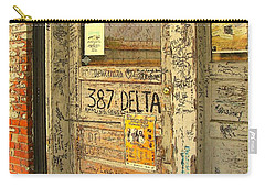 Graffiti Door - Ground Zero Blues Club Ms Delta Carry-all Pouch