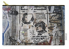 Graffiti In New York City Che Guevara Mussolini  Carry-all Pouch