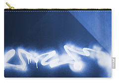 Graffiti Spray Blue Carry-all Pouch