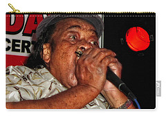 Carry-all Pouch featuring the photograph Grammy Award Winner James Cotton by Mike Martin