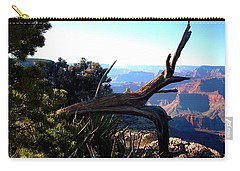 Carry-all Pouch featuring the photograph Grand Canyon Dead Tree by Matt Harang