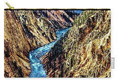 Carry-all Pouch featuring the photograph Grand Canyon Of The Yellowstone by Benjamin Yeager