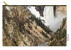 Carry-all Pouch featuring the photograph Grand Canyon Of The Yellowstone by Michael Chatt