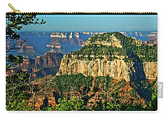 Carry-all Pouch featuring the photograph Grand Canyon Peak Angel Point by Bob and Nadine Johnston
