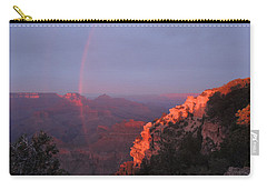 Carry-all Pouch featuring the photograph Grand Canyon Rainbow by Jayne Wilson