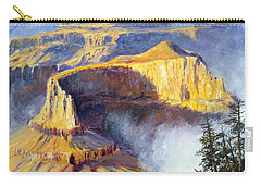 Carry-all Pouch featuring the painting Grand Canyon View by Lee Piper