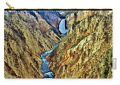 Carry-all Pouch featuring the photograph Grand Cayon Of The Yellowstone River by Benjamin Yeager