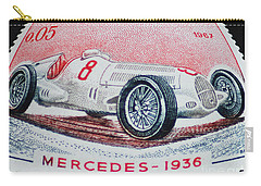 Grand Prix De Monaco 1936 Vintage Postage Stamp Print Carry-all Pouch by Andy Prendy