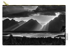 Grand Teton Light Beams Carry-all Pouch by Aidan Moran