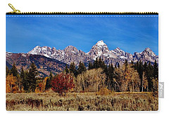 Carry-all Pouch featuring the photograph Grand Teton Panorama by Benjamin Yeager