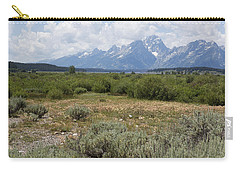 Carry-all Pouch featuring the photograph Grand Tetons From Willow Flats by Belinda Greb