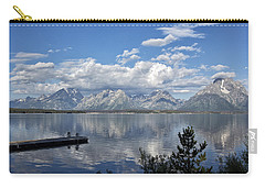 Carry-all Pouch featuring the photograph Grand Tetons In The Morning Light by Belinda Greb