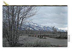 Grand Tetons Landscape Carry-all Pouch by Michele Myers