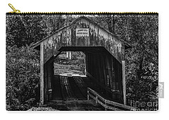 Grange City Covered Bridge - Bw Carry-all Pouch