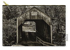 Grange City Covered Bridge - Sepia Carry-all Pouch