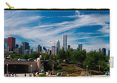 Grant Park Chicago Skyline Panoramic Carry-all Pouch by Adam Romanowicz