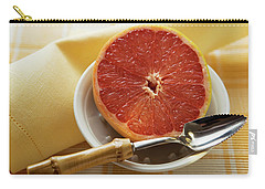 Grapefruit Half With Grapefruit Spoon In A Bowl Carry-all Pouch
