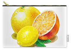 Grapefruit Lemon Orange Carry-all Pouch by Irina Sztukowski