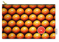 Grapefruit Slice Between Group Carry-all Pouch by Johan Swanepoel