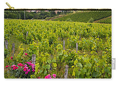 Carry-all Pouch featuring the photograph Grapes And Roses by Allen Sheffield