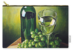 Carry-all Pouch featuring the painting Grapes And Wine by Kim Lockman