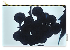 Carry-all Pouch featuring the drawing Grapes by D Hackett