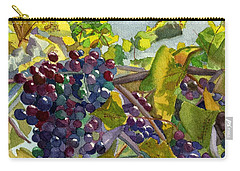 Carry-all Pouch featuring the painting Grapevines by Lynne Reichhart