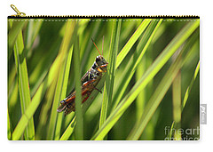 Grasshopper In Grass Carry-all Pouch