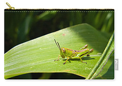 Grasshopper On Corn Leaf   Carry-all Pouch