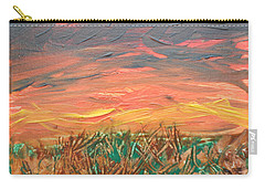 Grassland Sunset Carry-all Pouch by David Trotter