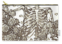 Gratefully Dead Skeleton Carry-all Pouch by Kelly Awad