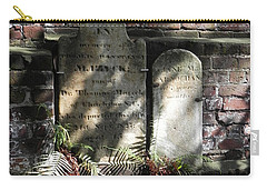 Grave Stones With Fern Carry-all Pouch by Patricia Greer