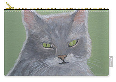 Cat With Green Eyes  Carry-all Pouch
