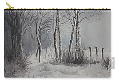 Gray Forest Carry-all Pouch by Rachel Hames