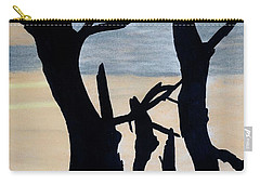 Carry-all Pouch featuring the drawing Gray Sunset by D Hackett