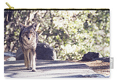 Coyote And Me At Vernal Falls Carry-all Pouch by Debby Pueschel