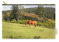 Carry-all Pouch featuring the photograph Grazing by Cheryl Hoyle