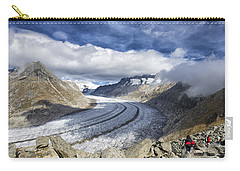 Great Aletsch Glacier Swiss Alps Switzerland Europe Carry-all Pouch