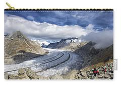 Great Aletsch Glacier Swiss Alps Switzerland Europe Carry-all Pouch by Matthias Hauser