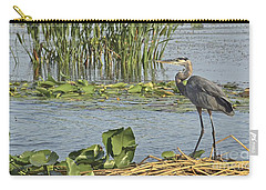 Carry-all Pouch featuring the photograph Great Blue Heron by Carol  Bradley