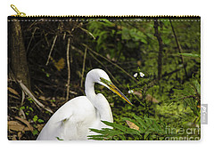 Great Blue Heron - White Carry-all Pouch