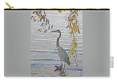 Carry-all Pouch featuring the photograph Great Blue Heron by Ann Horn